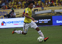 BARRANQUILLA -COLOMBIA, 1-SEPTIEMBRE-2016.Carlos Bacca jugador de Colombia en acción contra   Venezuela durante el  encuentro  por las eliminatorias al mundial de Rusia 2018  disputado en el estadio Metropolitano Roberto Meléndez de Barranquilla./  Carlos Bacca player of Colombia in actions against Venezuela during the qualifying match for the 2018 World Championship in Russia Metropolitano Roberto Melendez stadium in Barranquilla . Photo:VizzorImage / Felipe Caicedo  / Staff