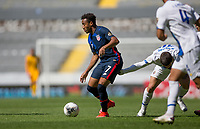 GUADALAJARA, MEXICO - MARCH 18: Jonathan Lewis #7 of the United States moves with the ball during a game between Costa Rica and USMNT U-23 at Estadio Jalisco on March 18, 2021 in Guadalajara, Mexico.
