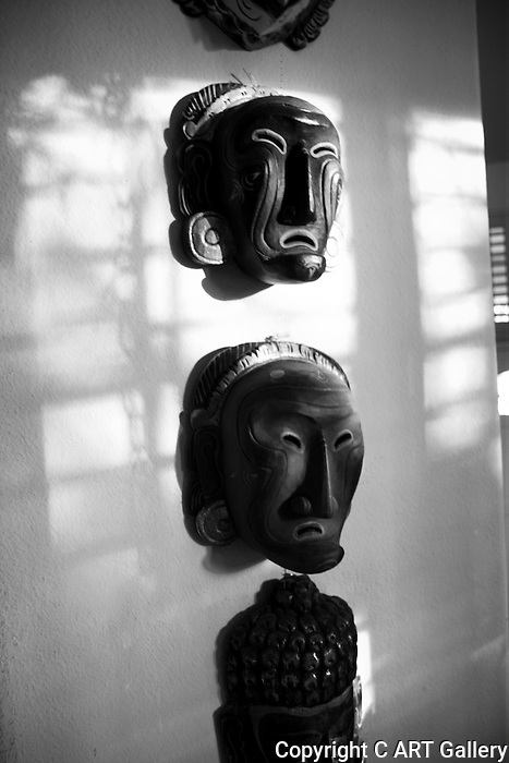 Masks, masks from Indonesia.