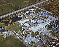 aerial photograph of the Kennedy Space Center visitor center, Cape Canaveral,  Florida