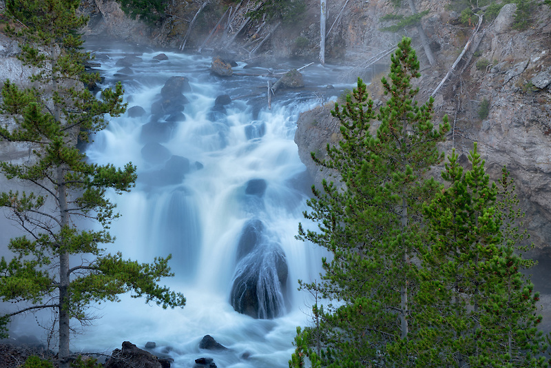 Firehole Falls. Yellowstone National Park, Wyoming