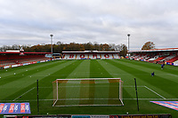 General view of the Lamex Stadium Empty Stadiums EFL Games during Stevenage vs Bolton Wanderers, Sky Bet EFL League 2 Football at the Lamex Stadium on 21st November 2020