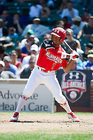 Outfielder Corey Ray #1 of Simeon High School in Illinois participates in the Under Armour All-American Game powered by Baseball Factory at Wrigley Field on August 18, 2012 in Chicago, Illinois.  (Mike Janes/Four Seam Images)