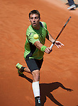 Joao Souza (POR) loses in first round at Roland Garros in Paris, France on May 28, 2012