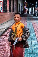 Litang, Tibet 2005. Monk in Litang, Kham, Eastern Tibet, 2005