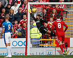 Wes Foderingham can't keep out Aberdeen's second goal from James Maddison