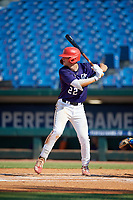Bobby Marsh (22) of Bellefonte Area High School in Bellefonte, PA during the Perfect Game National Showcase at Hoover Metropolitan Stadium on June 20, 2020 in Hoover, Alabama. (Mike Janes/Four Seam Images)