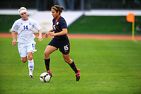 Casey Noguiera carries the ball. The USWNT defeated Iceland (2-0) at Vila Real Sto. Antonio in their opener of the 2010 Algarve Cup on February 24, 2010.