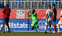CARSON, CA - FEBRUARY 1: GK Sean Johnson #1 of the United States saves a ball during a game between Costa Rica and USMNT at Dignity Health Sports Park on February 1, 2020 in Carson, California.