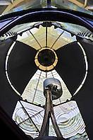 fresnel lens and reflectors of restored 1860 historic Jupiter Inlet Lighthouse, Jupiter, Florida, USA, Atlantic Oceann