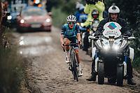 2nd October 2021, Paris–Roubaix Cycling tour; The first ever women's edition of Paris Roubaix which is famous for its uneven cobblestone course. Lizzy Deignan
