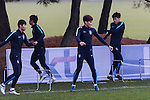 Korea Republic players warms up during a training session prior to their 2018 FIFA World Cup Russia Asian Qualifiers Final Qualification Round Group A match against Uzbekistan at the Paju National Football Center on 14 November 2016, outskirts of Seoul, South Korea. Photo by Victor Fraile / Power Sport Images