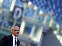 Football, Serie A: S.S. Lazio - Sampdoria, Olympic stadium, Rome, February 20, 2020. <br /> Sampdoria's coach Claudio Ranieri looks on during the Italian Serie A football match between S.S. Lazio and Sampdoria at Rome's Olympic stadium, Rome, on February 20, 2021.  <br /> UPDATE IMAGES PRESS/Isabella Bonotto