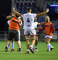Saturday 5th September 2020 | PRO14 Semi-Final<br /> <br /> Alan O'Connor celebrate Ian Madigan's last minute penalty goal during the Guinness PRO14 Semi-Final between Edinburgh and Ulster at the BT Murrayfield Stadium Edinburgh, Scotland. Photo by David Gibson / Dicksondigital