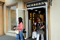 Burberry store at Beijing Scitech Premium Outlet Mall in Beijing, China. Opened in July 2009, Beijing Scitech Premium Outlet Mall is located in Beijing's most prestigious villa neighborhood. The outlet, featuring Colonial and Victorian architecture, the first of its kind in China, contains gallery of top-tier luxury brands, as well as showcases a wide selection of popular sports and leisure brands at discounted prices..15 May 2010