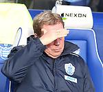 QPR v Norwich.Harry Redknapp shades his eyes..Pic by warren allott/Pixel 8000 Ltd