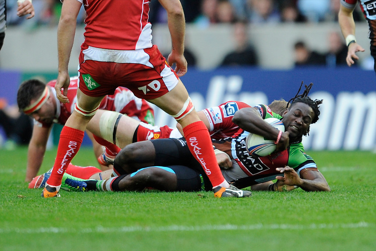 Paul Sackey of Harlequins in action during the Heineken Cup Round 1 match between Harlequins and Scarlets at the Twickenham Stoop on Saturday 12th October 2013 (Photo by Rob Munro)