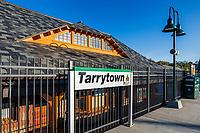 Tarrytown train station, New York, USA.