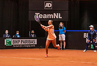 Den Bosch, The Netherlands, April 17, 2021,    Maaspoort, Billie Jean King Cup  Netherlands -  China , Lesley Pattinama-Kerkhove (NED)<br /> Photo: Tennisimages/Henk Koster