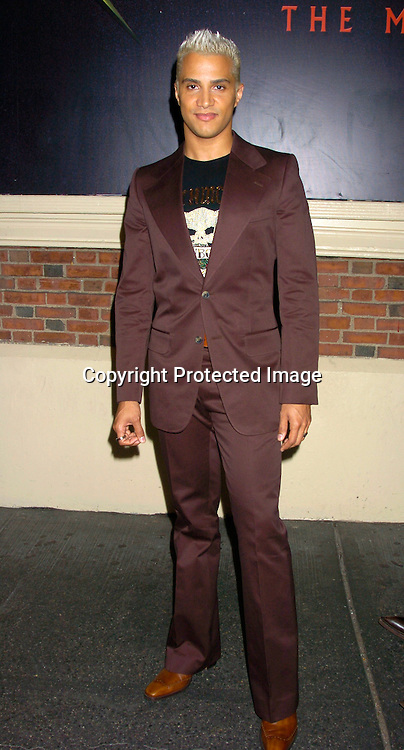 """Jay Manuel , a Judge on America's Next Top Model ..at the Broadway opening  of """" Dracula, The Musical"""" on ..August 19, 2004 at The Belasco Theatre in New York City...Photo by Robin Platzer, Twin Images"""