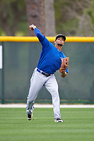 Toronto Blue Jays Josh Almonte (17) during practice before a minor league Spring Training game against the Pittsburgh Pirates on March 24, 2016 at Pirate City in Bradenton, Florida.  (Mike Janes/Four Seam Images)