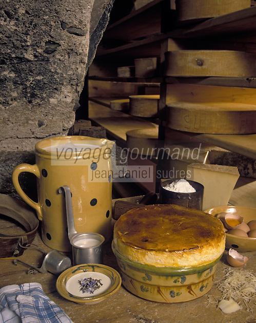 Europe/France/Rhône-Alpes/73/Savoie/Courchevel: Soufflé au Beaufort à la crème de fleur de bourrache - Recette de M. Rochedy
