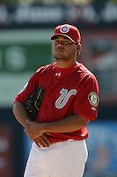 July 11 2009: Jorge Arrioja of the Vancouver Canadians before game against the Boise Hawks at Nat Bailey Stadium in Vancouver,BC..Photo by Larry Goren/Four Seam Images
