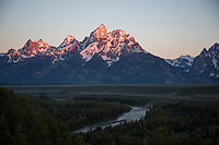Snake River Overlook at Sunrise - Grand Teton National Park