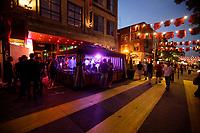 Montreal (QC) CANADA, 18 Juin 2010 -Pedestrian Sainte-Catherine street in  Montreal Gay Village
