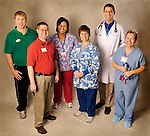 Westview Hospital personnel representing facets of the hospital for half page ad in the Colt's section in the 01.14.07 issue of the Sudnay Star