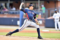 Rome Braves starting pitcher Jeremy Walker (30) delivers a pitch during a game against the Asheville Tourists at McCormick Field on June 12, 2017 in Asheville, North Carolina. The Tourists defeated the Braves 7-0. (Tony Farlow/Four Seam Images)