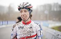 Helen Wyman (GBR/Kona) post-race <br /> <br /> Elite Women's Race<br /> <br /> 2015 UCI World Championships Cyclocross <br /> Tabor, Czech Republic
