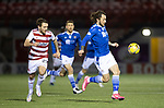 Hamilton Accies v St Johnstone …03.03.21   Fountain of Youth Stadium   SPFL<br />Stevie May and Lee Hodson<br />Picture by Graeme Hart.<br />Copyright Perthshire Picture Agency<br />Tel: 01738 623350  Mobile: 07990 594431