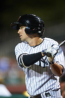 Scottsdale Scorpions Tyler Wade (41), of the New York Yankees organization, during a game against the Glendale Desert Dogs on October 14, 2016 at Scottsdale Stadium in Scottsdale, Arizona.  Scottsdale defeated Glendale 8-7.  (Mike Janes/Four Seam Images)