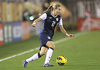 BOCA RATON, FL - DECEMBER 15, 2012: Heather Mills (2) of the USA WNT of  during an international friendly match against China at FAU Stadium, in Boca Raton, Florida, on Saturday, December 15, 2012. USA won 4-1.