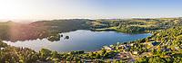 France, Puy de Dome, Volcans d'Auvergne Regional Natural Park, Aydat, Aydat lake (aerial view) // France, Puy-de-Dôme (63), Parc naturel régional des volcans d'Auvergne, Aydat, lac d'Aydat (vue aérienne)