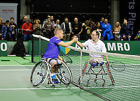 Februari 11, 2015, Netherlands, Rotterdam, Ahoy, ABN AMRO World Tennis Tournament, Maikel Scheffers (NED) - Frederic Cattaneo (FRA)<br /> Photo: Tennisimages/Henk Koster