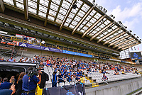 fans and supporters pictured during a female soccer game between Club Brugge Dames YLA and Standard Femina de Liege on the first matchday of the 2021 - 2022 season of Belgian Scooore Womens Super League , saturday 21 August 2021in Brugge , Belgium . PHOTO SPORTPIX   DAVID CATRY