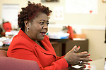 TORRINGTON, CT-122017JS13---Denise L. Clemons, Superintendent of Torrington Public Schools, talks about her first year running the district and the goals and challenges that lay ahead. <br /> Jim Shannon Republican-American