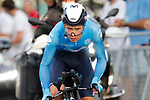 Miguel Angel Lopez Moreno (COL) Movistar Team in action during Stage 1 of La Vuelta d'Espana 2021, a 7.1km individual time trial around Burgos, Spain. 14th August 2021.    <br /> Picture: Luis Angel Gomez/Photogomezsport | Cyclefile<br /> <br /> All photos usage must carry mandatory copyright credit (© Cyclefile | Luis Angel Gomez/Photogomezsport)