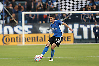SAN JOSE, CAL - JULY 24: Nathan Cardoso #13 of the San Jose Earthquakes during a game between Houston Dynamo and San Jose Earthquakes at PayPal Park on July 24, 2021 in San Jose, Cal.