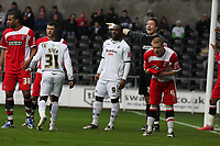 Pictured: (L-R) Nathan Dyer and Jason Scotland of Swansea City in action<br /> Re: Coca Cola Championship, Swansea City FC v Charlton Athletic at the Liberty Stadium, Swansea, south Wales. 28 February 2009<br /> Picture by D Legakis Photography / Athena Picture Agency, Swansea 07815441513
