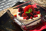 Roasted brie with berries from the Pedralva resort kitchen