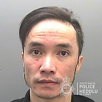 "Pictured: Doan Duc Vu<br /> Re: The ringleaders of a Vietnamese crime gang have been jailed after police seized 2.5 tonnes of cannabis worth about £6m in raids across south Wales.<br /> A total of 21 people have been sentenced in a case going back to 2017 after dozens of cannabis factories were uncovered across the region and beyond.<br /> One of the defendants initially claimed to be 14 years old, but police proved he was actually aged 26.<br /> The gang leaders were sentenced at Merthyr Tydfil Crown Court on Friday.<br /> Bang Xuan Luong, 44, was sentenced to eight years in prison. His partner, 42-year-old Vu Thi Thu Thuy, was jailed for six years and Tuan Anh Pham, 20, who was described in court as the ""IT Man"", received five years.<br /> An investigation into a cannabis factory in the Cynon Valley led officers from South Wales Police's Force Intelligence and Organised Crime Unit (FIOCU) to a string of others across south Wales, Gwent and Dyfed-Powys force areas."