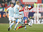 Atletico de Madrid's LucianoVietto (r) and Celta de Vigo's Daniel Wass during Spanish Kings Cup match. January 27,2016. (ALTERPHOTOS/Acero)
