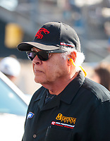Feb 7, 2020; Pomona, CA, USA; NHRA former driver Don Prudhomme during qualifying for the Winternationals at Auto Club Raceway at Pomona. Mandatory Credit: Mark J. Rebilas-USA TODAY Sports