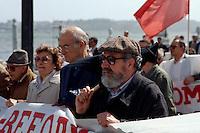 Portugal, politische Demonstration in Lissabon