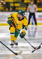 8 February 2020: University of Vermont Catamount Forward Theresa Schafzahl, a Sophomore from Weiz, Austria, in second period action against the University of Connecticut Huskies at Gutterson Fieldhouse in Burlington, Vermont. The Huskies defeated the Lady Cats 4-2 in the first game of their weekend Hockey East series. Mandatory Credit: Ed Wolfstein Photo *** RAW (NEF) Image File Available ***