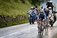 breakaway trio  Mattia Cattaneo (ITA/Deceuninck-Quick Step), Michal Kwiatkowski (POL/INEOS Grenadiers) & Kasper Asgreen (DEN/Deceuninck - Quick Step) up the Col de Port<br /> <br /> Stage 16 from El Pas de la Casa to Saint-Gaudens (169km)<br /> 108th Tour de France 2021 (2.UWT)<br /> <br /> ©kramon