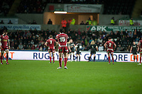 Friday 03 January 2014<br /> Pictured:<br /> Re: Ospreys v Scarlets, Rabo Direct Pro 12 match at the Liberty Stadium Swansea, Wales